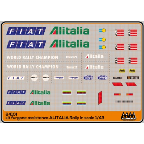 Alitalia - furgone assistenza rally kit