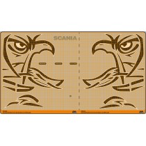 Black Griffin stylized white board - Scania kit