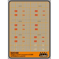 M52048 - Plates for loco E626 for LEModels - 3D