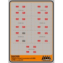 M52055 - Plates for loco E655 for ACME - 3D