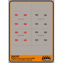 M52057 - Plates for loco E656 II-III-IV series for ACME - 3D