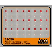 M52059 - Safety stickers for train with automatic doors