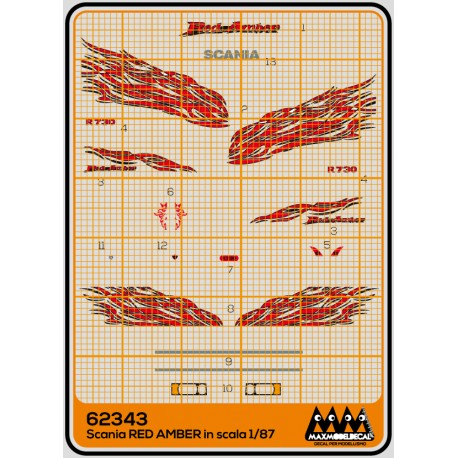 Red amber Scania Kit - M62343