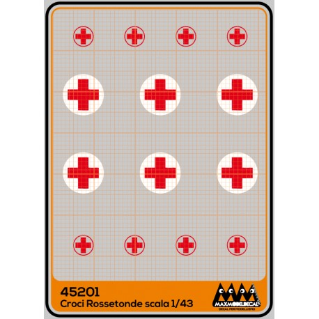 Red Cross in white circle - M45201