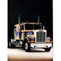 Freightliner Conventional FLC 12064T Blue stripes – M67476