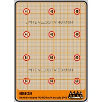 M65109 - 40-60 km/h - speed limit