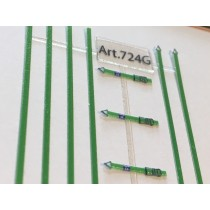M724G - Straps for truck load in green colour