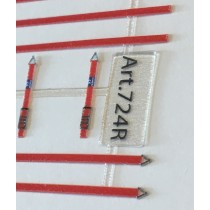 M724R - Straps for truck load in red colour