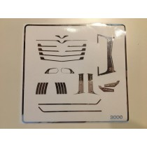 M3000 - Chrome parts for Mercedes MP4 front grid