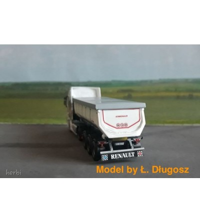 Long Mudflaps Renault - 3D - M735B - Model by Ł. Długosz