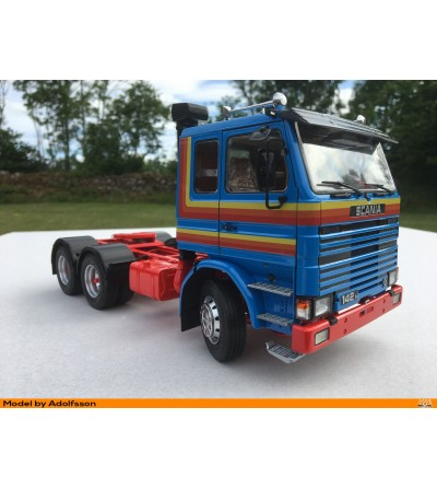 Scania 2a serie red/orange T-R model  - Scania Kit intercooler version - M67414