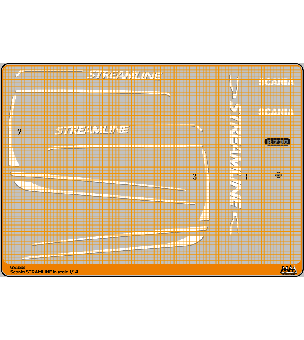 Streamline bianco - Scania Kit - M69322