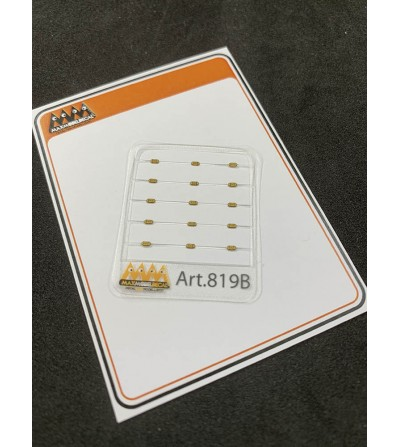 Orange oval LED lights - 3D - 819B