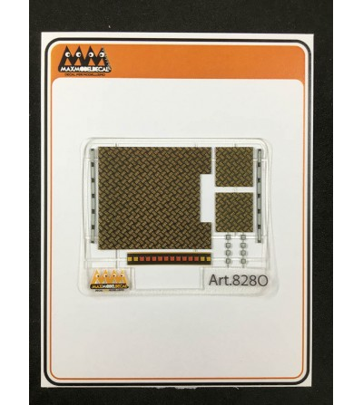 Aluminium Chequer Plate orange and light - 3D - M828OR