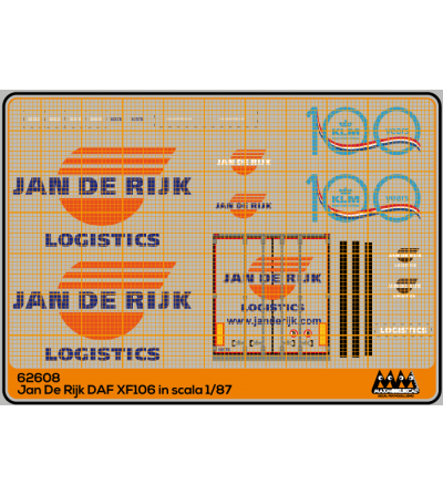 Jan De Rijk for DAF XF106 -DAF kit - M62608