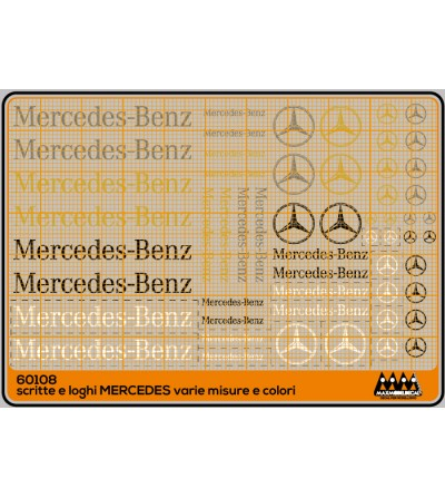 Mercedes logos and lettering, various sizes and colors - M60108