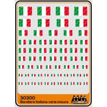 M30300 - Italian flag different sizes