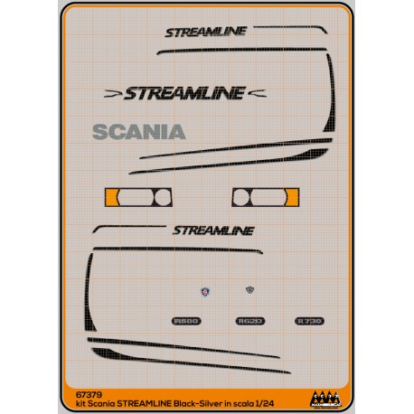 67379 - Streamline Black - Scania kit