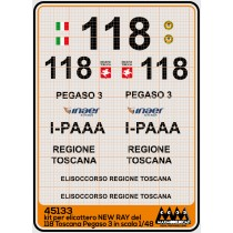 118 Toscana Pegaso 3 AW 139 - New Ray kit - M45133