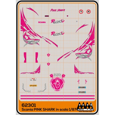 M62301 - Pink Shark - Scania kit