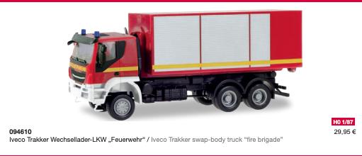 ROSSO-NUOVO Herpa 310581-1//87 Iveco Trakker TRACTOR 6×6